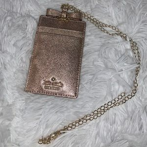 Kate Spade Rose Gold ID Wallet Card Holder